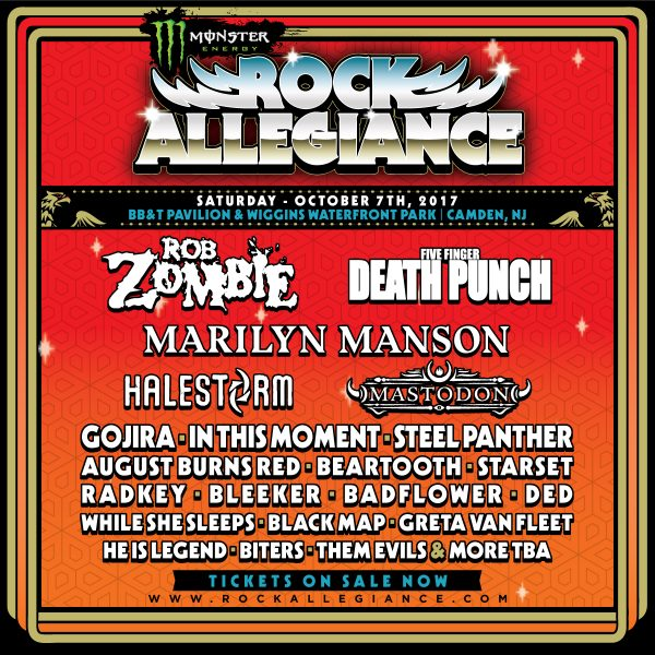 Rock Allegiance 2017 - Tickets on sale NOW!!!