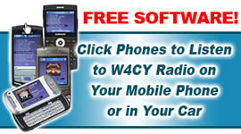 W4CY Radio.  There's an APP for that! Download the App for any Apple, Android, or Blackberry Smart Phone or Tablet