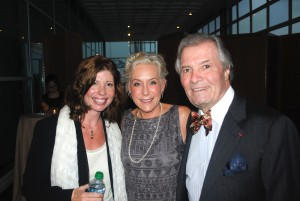 Melanie Young with Claudine and Jacques Pepin at Les Dames d'Escoffier NY Dinner honored Jacques (October 2011)