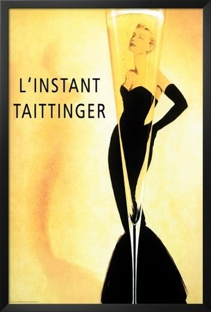 Do you know who the blonde woman is in this iconic Taittinger poster?